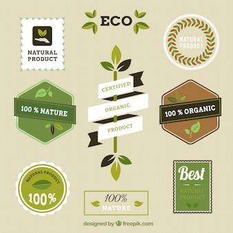 Etiquetas de productos naturales