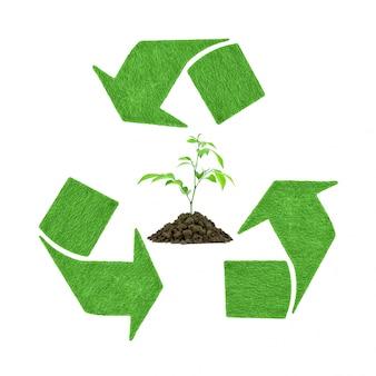 Naturaleza de la ecología verde signo de conservación