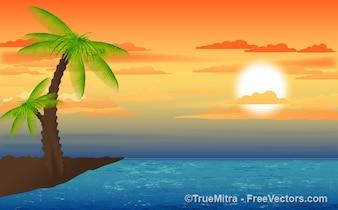Naturaleza paisaje puesta del sol fondos