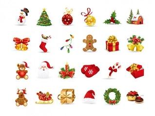 Navidad elementos de conjunto de vectores