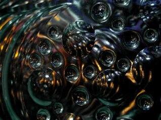 negro burbuja abstracto fondo verde