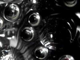 negro burbuja abstracto render fondo