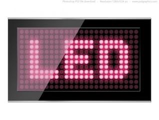 Negro conducido plantilla de pantalla PSD
