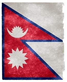 Nepal grunge bandera