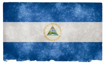 Nicaragua grunge bandera