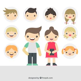 Niñas y niños ilustración