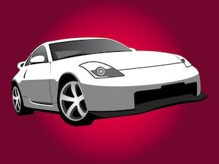 Nissan coche diseño ilustración vectorial