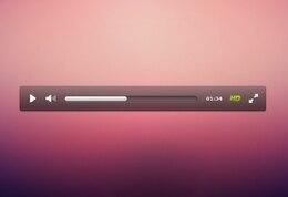 nítida interfaz personalizada reproductor de vídeo psd