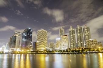 Noche de Bangkok tiro
