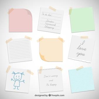 Notas de papel