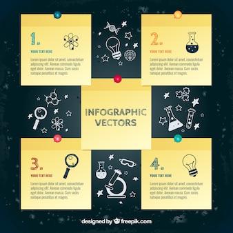 Notas plantilla infografía