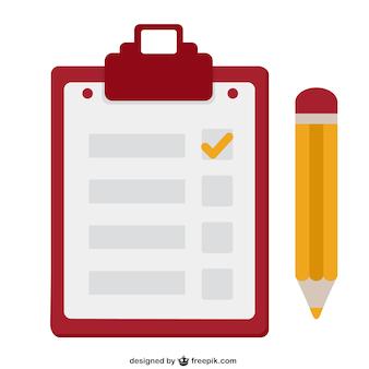 Cuaderno y lápiz