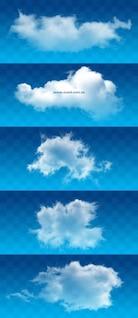 nubes blancas psd capas de imagen de alta definición