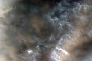 nubes de tormenta violenta