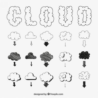 Nubes esbozadas