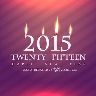 Nueva tarjeta de felicitación feliz año 2015