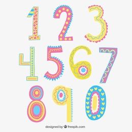 Números dibujados a mano divertidos