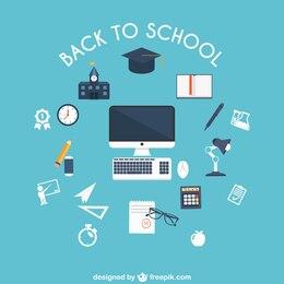 Objetos de regreso a la escuela