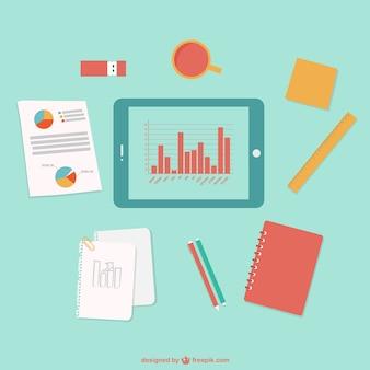 Vector gratis de oficina y negocios