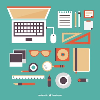 Elementos gráficos de oficina gratis