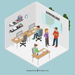 Oficina de trabajo cooperativo