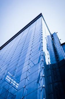 Oficina fachada negocio futurista ciudad