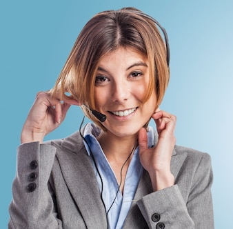 Personas hablando por telefono fotos y vectores gratis for Telefono de la oficina