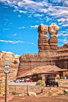oltimer gemelos EE.UU. bluff rocas utah navajo