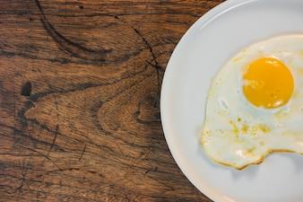 Omelet, cocinado, alimento, tabla, cacerola
