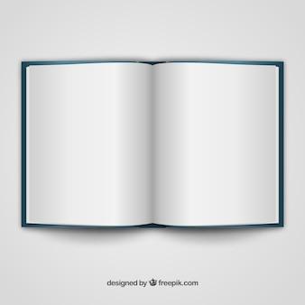 Libro abierto plantilla realista