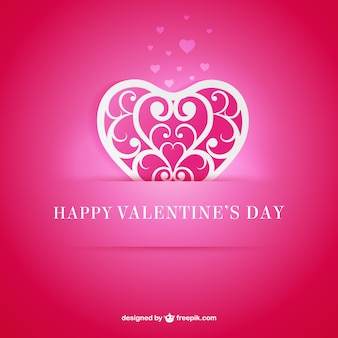 Tarjeta de San Valentín de corazón ornamental