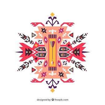 Ornamento étnico abstracto