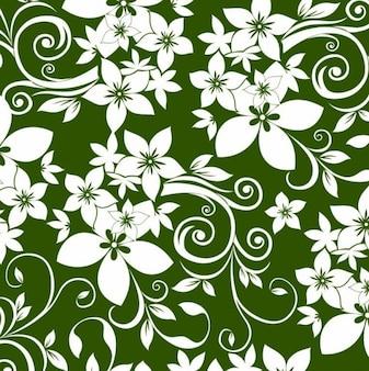 ornamento floral en fondo verde
