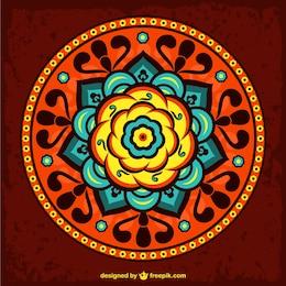 Ornamento floral redondo