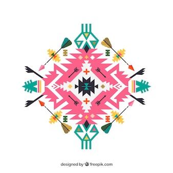 Ornamento tribal colorido