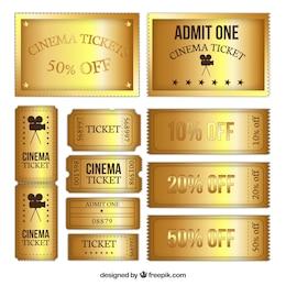 Oro colección entradas de cine