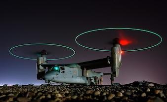 osprey futurista ufo aterrizaje