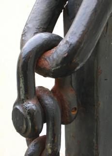 Oxidada cadena del ancla