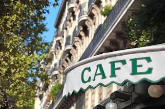 Pabellón de café en parís