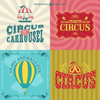 Pack carteles de circo
