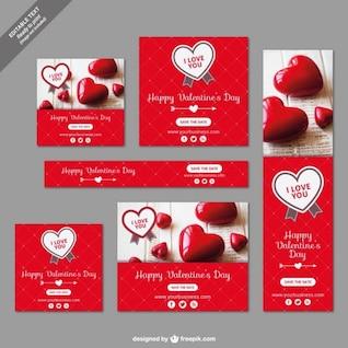 Pack de banners de San Valentín