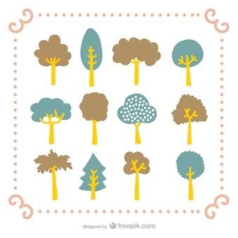 Pack de dibujos de árboles