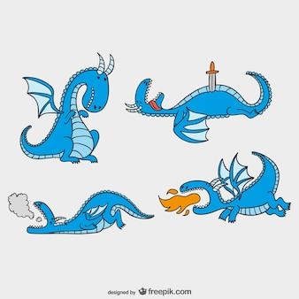 Pack de dragones de cuentos de hadas
