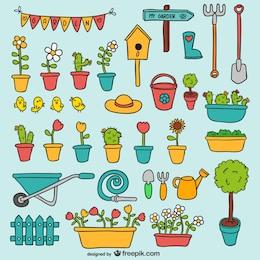 Pack de elementos de jardín