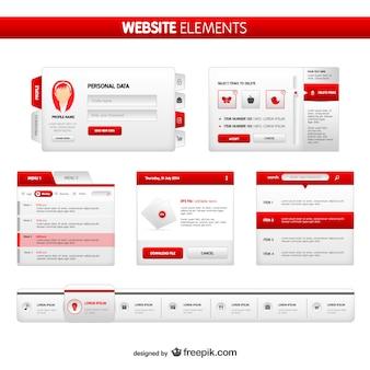 Pack de elementos para páginas web