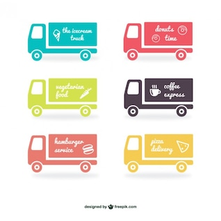 Pack de etiquetas de camiones