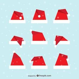 Pack de gorros de Santa Claus