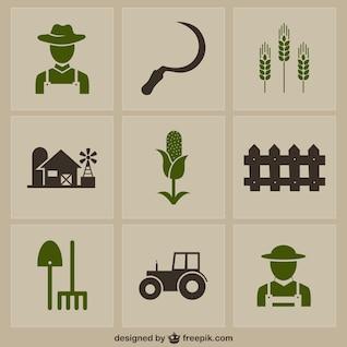 Pack de iconos agrícolas