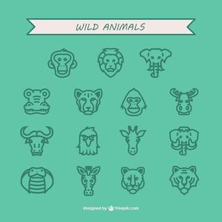 Pack de iconos de animales salvajes