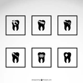 Pack de iconos de dentista